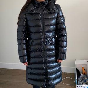 Moncler Moka Shiny Fitted  Puffer Jacket